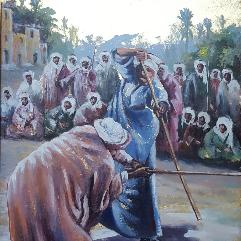 رقصة التحطيب علي ارض الذهب مصر