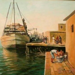Fishing in the citadel of the tower in Damietta