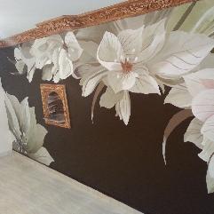 زهور على الحائط