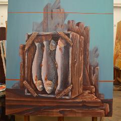 خشب السنديان و اسماك السلمون