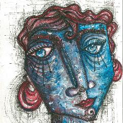 الوجه الأزرق