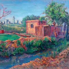 لوحة البيت الريفي المصري