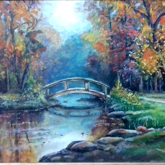لوحة النهر