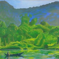راهب في النهر