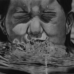 فتاة في الماء