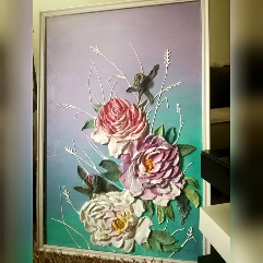 Sculpture Painting Roses