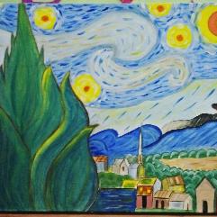من لوحه فان جوخ