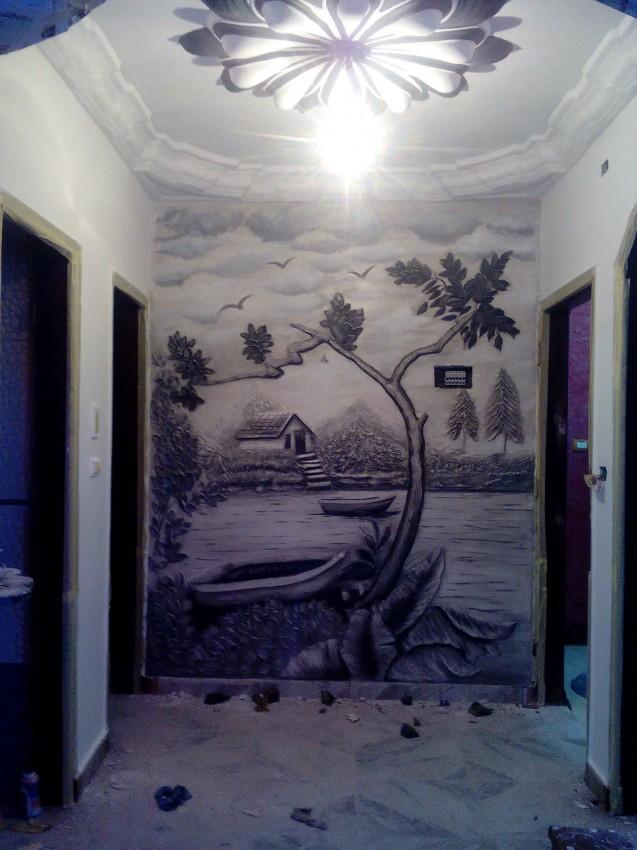 رسم بارز على الحائط