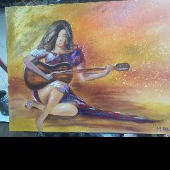 عازفة الجيتار