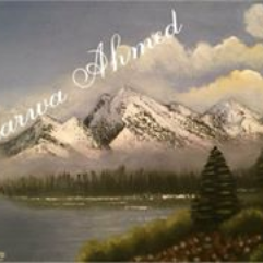 Lake and snow mountains