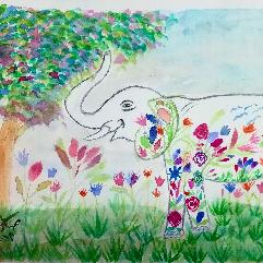 فيل مزدهر
