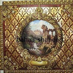 منظر طبيعي بورق الذهب