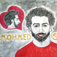 بورتريه ثلاثي لمحمد صلاح
