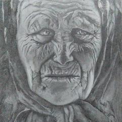 شفقة المراة العجوز