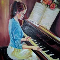 عازفة البيانو