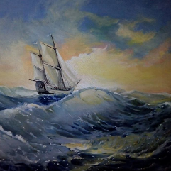 عاصفة وغروب من قلب البحر