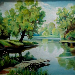 بحيرة جميلة