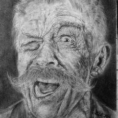 العجوز المبتهج