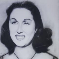 بورتريه للفنانه ليلى مراد