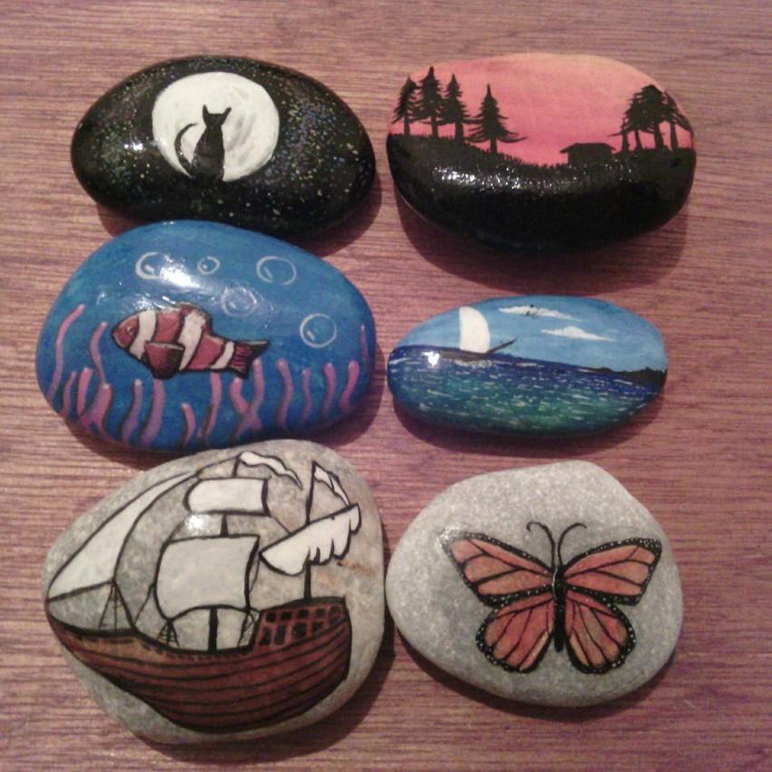 الرسم علی الحجارة