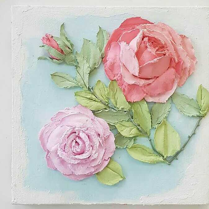 Roses  3d painting