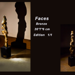 ( وجوه ( مجسم برونز