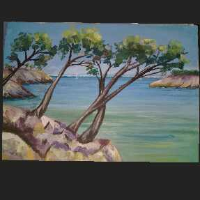 Trees By The Sea