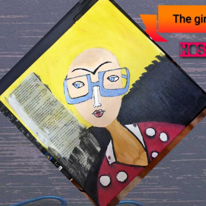 الفتاة ذات النظارة الزرقاء