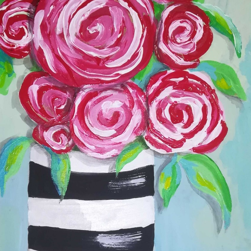 فازة الورود البينكي