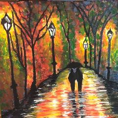 التمشي في فصل الخريف