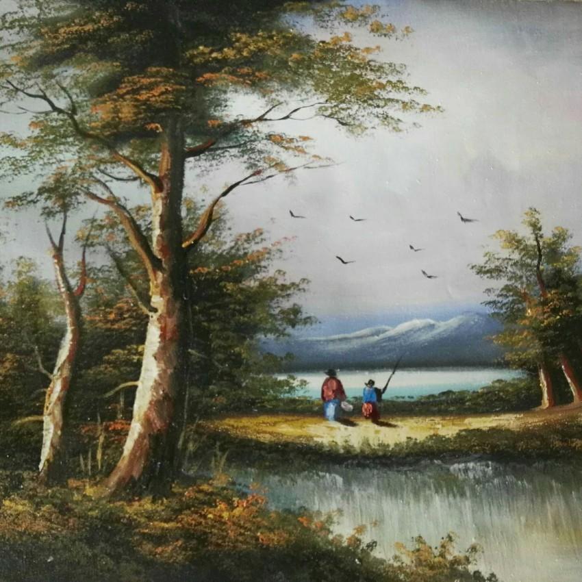 الصيد في البحيرة