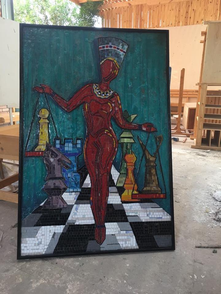 (العدل  (جدارية موزاييك