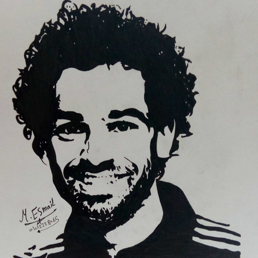 A portrait of the Egyptian player Mohamed Salah
