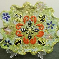 Artistic Glass Plate
