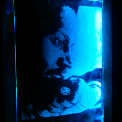 A Friend  (Engraved Glass)