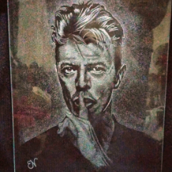David Bowie (Engraved Glass)