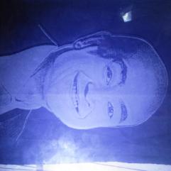 (الأعلامى عمرو أديب  (حفر على الزجاج