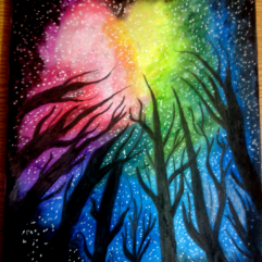 The Forest (Oil Pastel)