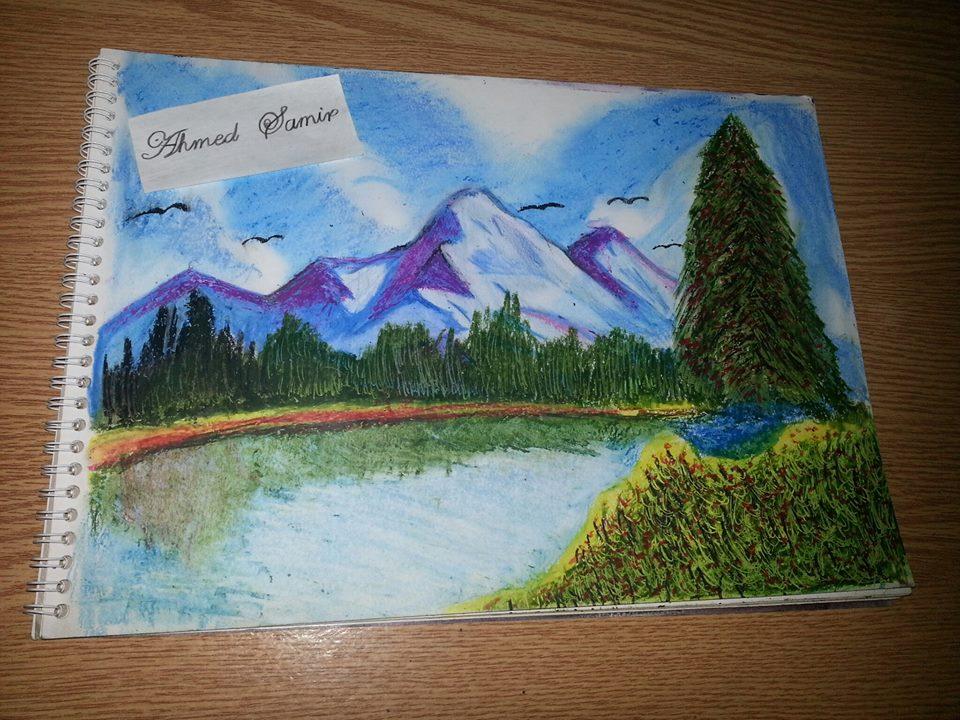 European Landscape (Oil Pastel)