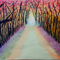 The Pathway (Oil Pastels)
