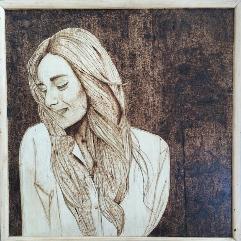 Artist Amina Khalil (Wood Burning Art)