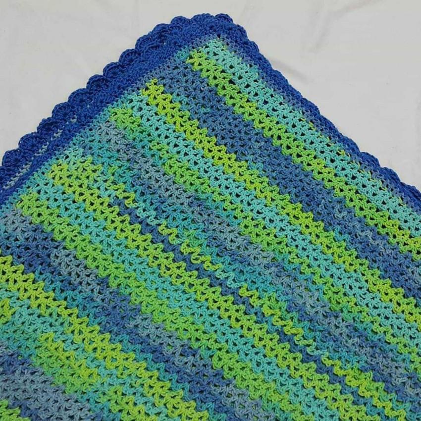 Cotton Crochet Blanket