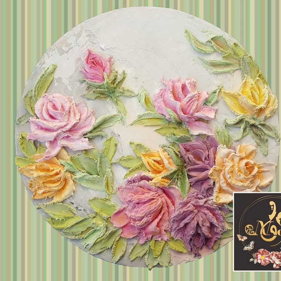 Roses Bouquet  (Relief Artwork)