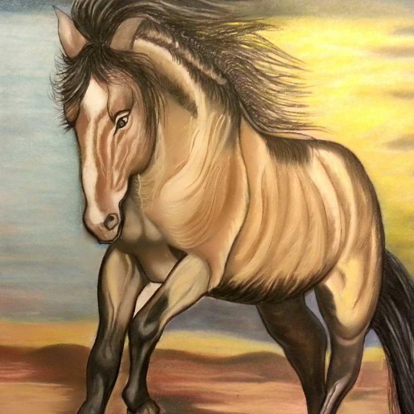 حصان وقت الغروب