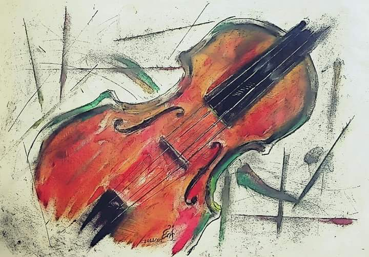 The Spirit Of The Violin | Arab Art For Sale