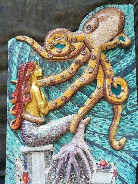 The Mermaid (Mosaic Sculpture)