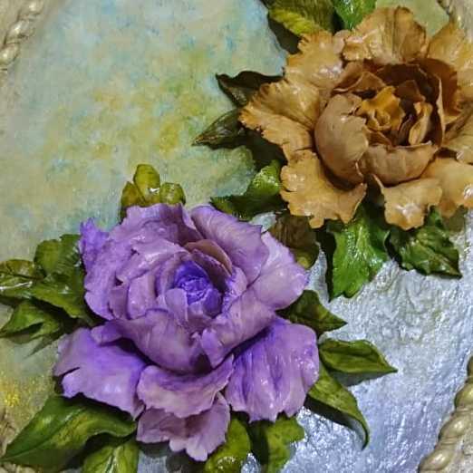 (روعة الورود  (عجينة السيراميك