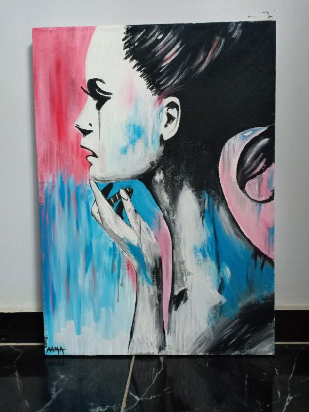 لوحه اكريليك
