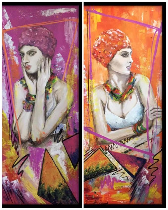 المرأة العصرية بألوان زاهية