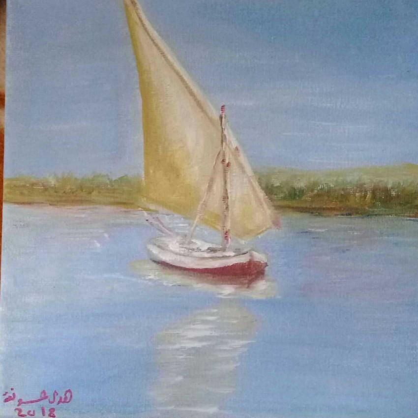 مركب شراعي في النيل